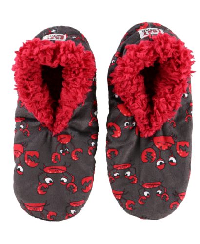 Adult Crabby Fuzzy Slippers - Lazy One®